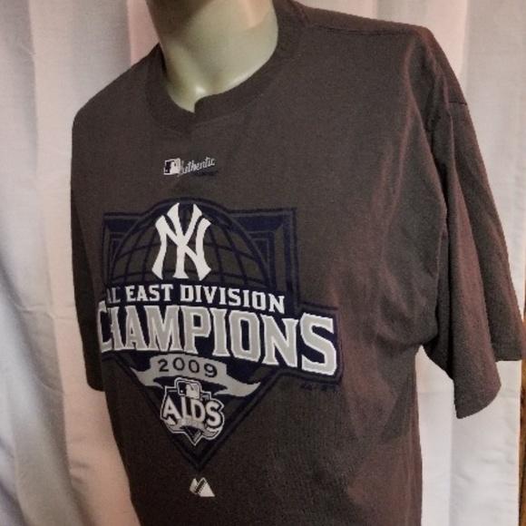 7962387e146 Majestic Shirts | Ny Yankees Al East Champions 2009 Alds Sz Large ...